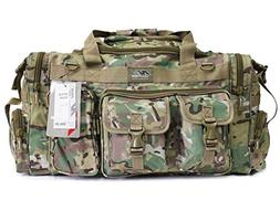 "26"" 1200 cu.in. Tactical Duffle Military Molle Gear Shoulder"