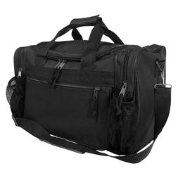 """DALIX 15"""" Duffle Bag Dual Front Mesh Accessories Pockets in"""