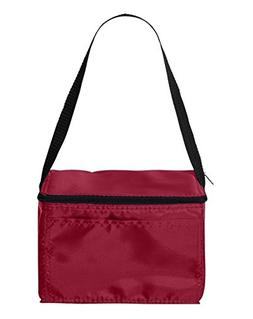 Liberty Bags 1691 Value Cooler 6 Pack Cooler Red One Size