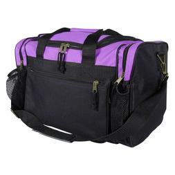 "DALIX 17"" Duffle Bag Dual Front Mesh Pockets (Black Gold Gra"