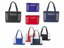 """DALIX 17"""" Mesh Polyester Shopping Tote Reuseable Grocery Bag"""