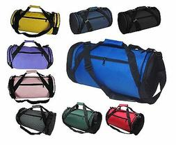 "DALIX 18"" Round Duffle Bag Flexible Roll Gym Traveling Equip"