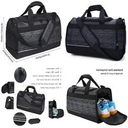 "MIER 20"" Gym Bag W Shoe Compartment Men Duffel MEDIUM Black"