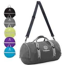 Freeman Foldable Sports Gym Bag With Shoe Compartment, Trave
