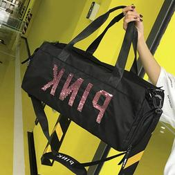 2019 New Women Men Black Travel <font><b>Bag</b></font> Pink