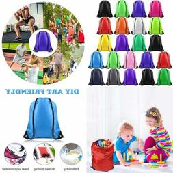 22 Pack Drawstring Bags String Backpack Bulk Tote Sack Cinch
