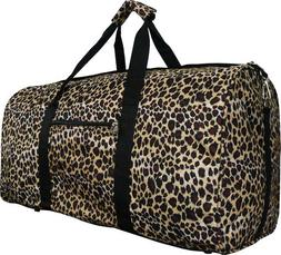 "22"" Women's Leopard Print Gym Dance Cheer Travel Carry On Du"