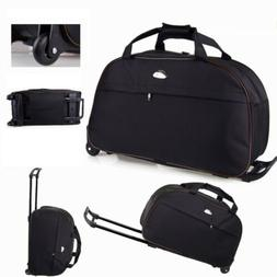 "24"" Luggage Duffel Bag Travel Wheel Hand Suitcase Tote Carry"