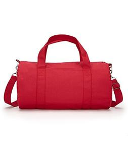 Liberty Bags Grant Cotton Canvas Duffel Bag OS Red
