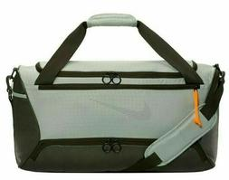 ADIDAS DEFENSE SMALL GRAY WHITE Duffel Sport Gym Bag Luggage