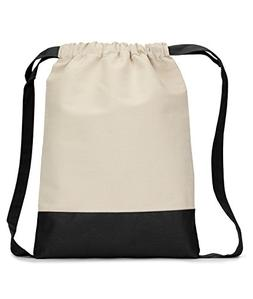 Liberty Bags 8876 - Cotton Canvas Contrast Bottom Drawstring