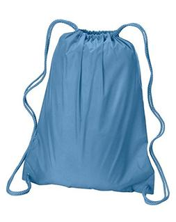 Liberty Bags 8882 Large Drawstring Backpack, LIGHT BLUE, One