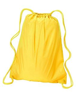 Liberty Bags 8882 Large Drawstring Backpack, BRIGHT YELLOW,