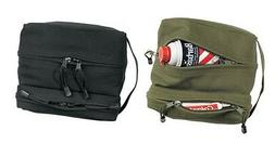 Rothco 9126 Canvas Dual Compartment Travel/Shave Kit Bag - O