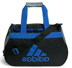 Adidas Diablo Duffel Bag BLACK BLUE LOGO ZIP TOP Fits Gym Lo