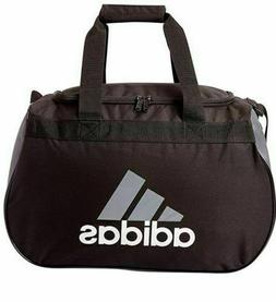 Adidas Diablo Duffel Bag BLACK WHITE LOGO ZIP TOP Fits Gym L