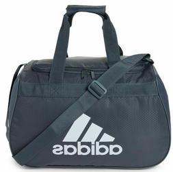 ADIDAS Diablo Duffel Bag ONYX GRAY WHITE TOP ZIP CLOSURE Fit
