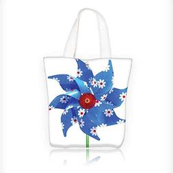 86fcc65c03 Canvas Tote Bag Collection Pinwheel with Daisies Floral Patt