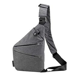 Chest Bag Men Women Sling Bag Casual Canvas Chest Anti Theft