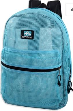 Classic Mesh Backpack with Reinforced Padded Straps and Zipp
