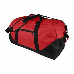 """DALIX 21"""" Duffle Bag Two-Toned Sports Gym Travel Bag in Red"""
