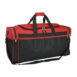 "DALIX 25"" Extra Large Vacation Travel Duffle Bag in Red and"