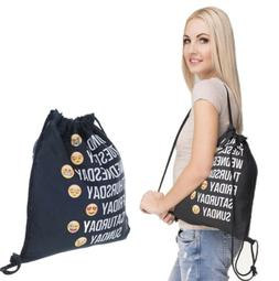 Fashion Gym Drawstring Backpack String Bag Emojis Sackpack f