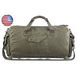Gootium Canvas Duffel Bag - Vintage Travel Tote Weekend Hold