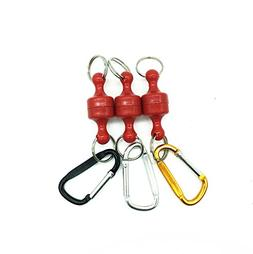 Inf-way 3pcs Super Strong Magnet Split Rings Keychain Hook H