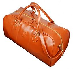 Kenox Men's Pu Leather Travel Bag Duffel Weekend Luggage Gym