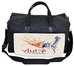 Lunarable 4th of July Gym Bag, Statue of Liberty Flag, Large