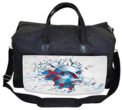 Lunarable Art Gym Bag, Statue of Liberty Contemporary, Large