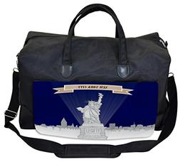 Lunarable USA Gym Bag, Statue of Liberty Sketch NY, Large We