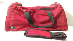 "MIER Sports Gym Duffel Bag with Shoe Compartment 21"" Red"