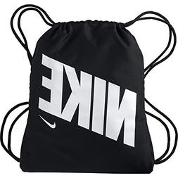NIKE Kids' Graphic Gym Sack, Black/Black/White, One Size