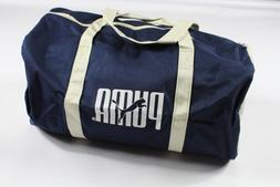 NOS Vintage 90s Puma Spell Out Handled Canvas Duffel Bag Gym
