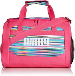 PUMA Big Girls' Evercat Transformation JR Duffel, Pink/Multi