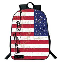 Pictures Print Design Black School Bag,backpacksNYC Decor,St