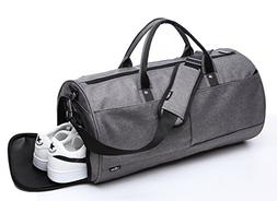 RIONA Large Sports Gym Bag Canvas Waterproof with Shoes Comp