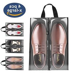 Shoe Bags for Travel,LOVK 4 PCS X-Large Travel Accessories S