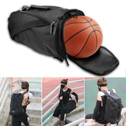 Sport Gym Duffle Backpack Luggage Shoulder Bag With Shoes Ba
