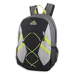 Trailmaker Full Size 17 Inch Bungee Backpack With Mesh Side