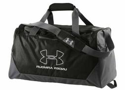 UA UNDER ARMOUR HUSTLE DUFFEL BLACK GYM BAG WET DRY SHOE POC