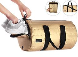 Voova Sports Gym Bag with Shoes Compartment 20L Foldable Tra