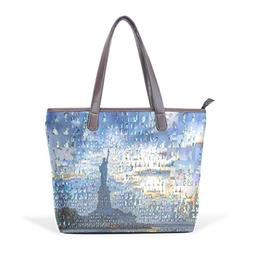 WDYSECRET Statue Of Liberty Women's Pu Leather Handbag Shoul