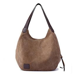 Women's Canvas Tote Bags Large Casual Shoulder Handbags and