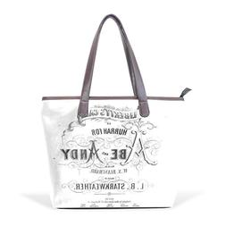 Ye Store Liberty's Call Lady PU Leather Handbag Tote Bag Sho