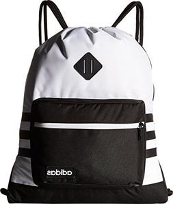 adidas Classic 3S Sackpack, White, One Size
