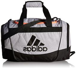 adidas Defender II Small Duffel Bag, One Size, White Grip/Bl