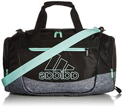 adidas Defender III Duffel Bag, Black/Onix Jersey/Clear Mint